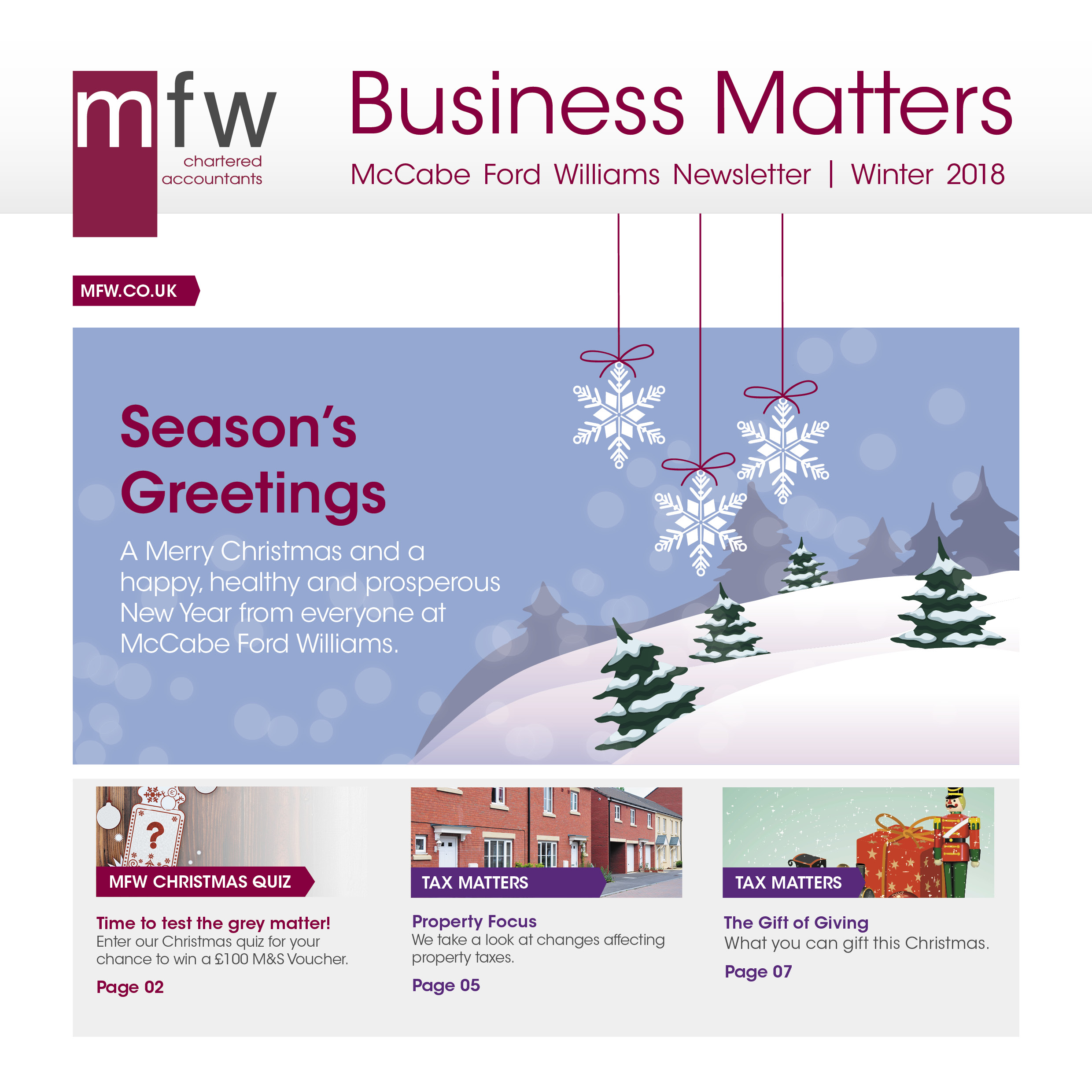 MFW Business Matters winter 2018
